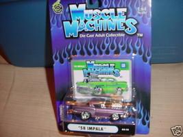Muscle Machines '58 Impala Lt. Purple 03-14 Free Usa Shipping - $11.29