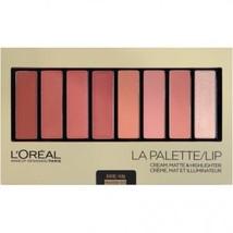 L'Oreal LA Lip Palette Cream, Matte & Highlighter 03 Nude .14oz (BNZ1397... - $12.99
