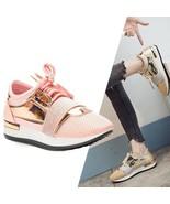 Spring Fashion Women Sneakers Casual Shoes Shinny Metallic Ladies Traine... - $30.99