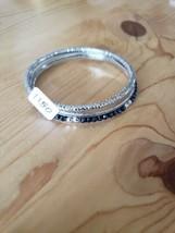 1150 Silver & Dark Blue Bangles (New) - $8.58