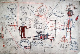 """Jean-Michel Basquiat """" Untitled, 1981 """" HD print on canvas wall picture ... - $35.63"""