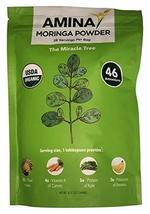 Amina USDA Organic Moringa Tree Dried Leaf Powder, 8 oz Pouch (4) - $49.96