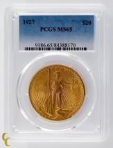 1927 DORADO ST GAUDENS Double Eagle PCGS graduado MS65 - $1,947.63