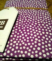 Pottery Barn Dorm Mini Dot Standard Sham Plum / Purple + White  26 x 20 NWT - $28.60