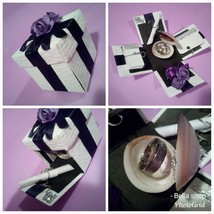 Exploding mini box jewellery birthday gift box wedding thank you gift - $25.37