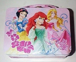 Small Miniture Disney Princesses Lunch Box - Snow White, Ariel, Aurora - $10.65