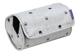 Dooky Car Seat Arm Cushion in Grey Crowns
