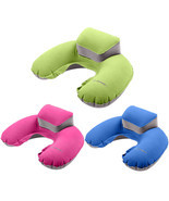 Travel Pillow Inflatable Neck Pillow U Shape Blow Up Neck Cushion PVC Fl... - £4.93 GBP
