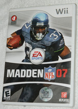 Madden NFL 07 (Nintendo Wii, 2006) with Case and Free Shipping - $11.26