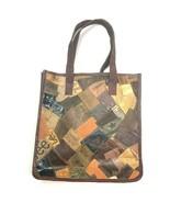 NWT Tikka leather tote bag denim JEAN leather LABEL  - $49.50