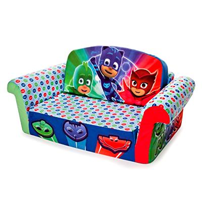 Marshmallow Furniture - Kid Children's 2 in 1 Flip Open Foam Sofa, PJ Masks Flip