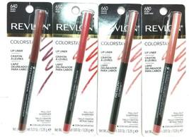 **Lot of 4** Revlon Colorstay Lipliner Shades: 640, 650, 660 & 680 w/ Sh... - $18.04