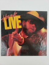 Hank Williams Jr Hank Live w Shrink Vinyl LP Record 1987 Warner Bros WI ... - $16.65