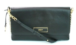 DKNY Donna Karan Black Leather Shoulder Bag Handbag Small - $230.29