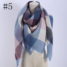 Hot Fashion Warm Cashmere Plaid Blanket Women's Warp Scarf Pashmina Shawl image 6