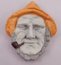 Cast Iron Fisherman Maritime Seaman Old Man & the Sea Ashtray Pin Coin K... - $13.32