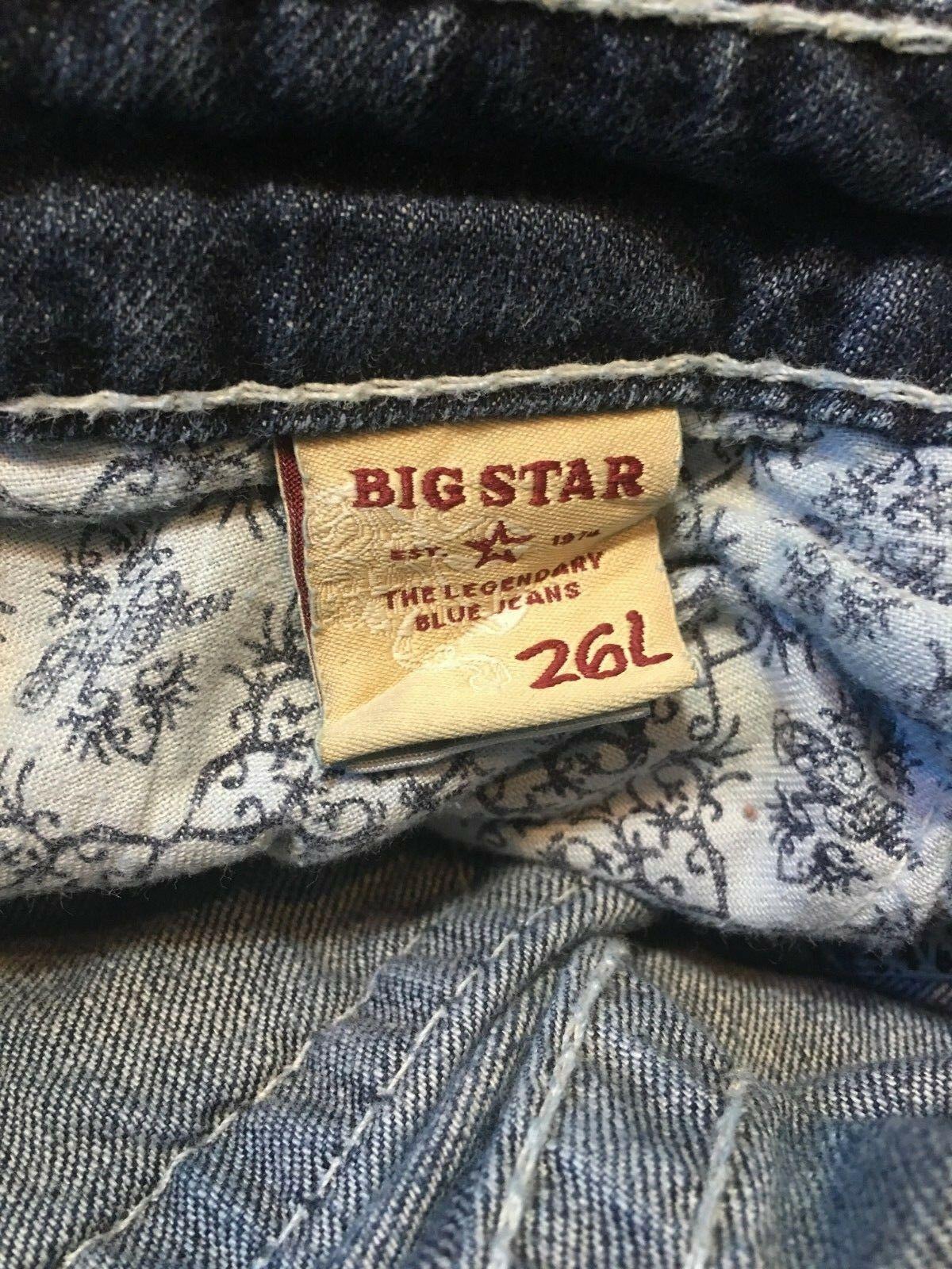 """BIG STAR Jeans BKE Buckle """"Hazel"""" Boot Cut Low Rise Women's 26L  GUC"""