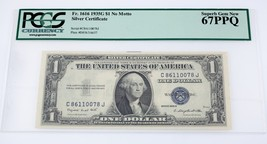 1935-G $1 Silver Certificate (No Motto) Graded by PCGS as Gem New 67PPQ - $84.64