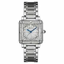 Bulova 96R129 Women's 100 Diamonds Silver Dial Blue Hands Bracelet Wrist... - $398.00
