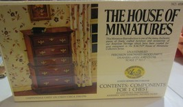 The House of Miniatures dollhouse kits -chippendale chest - queen anne c... - $26.55