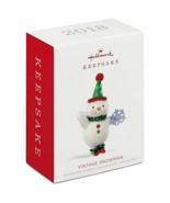 Hallmark Keepsake 2018 Vintage Snowman Ornament - $12.82