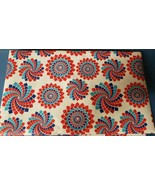 """Peva Flannel Back Tablecloth 52"""" x 70"""" Oblong, PATRIOTIC,USA AMERICAN MO... - $13.85"""