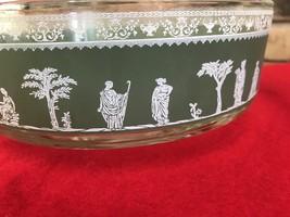Vintage Hellena Green by Jeannette Greek Roman Grecian Nappy Dessert Bowl - $24.19