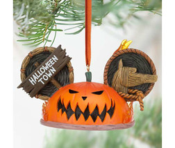 Disney Pumpkin King Mickey Ear Hat Ornament - T... - $32.66