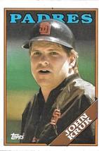 1988 Topps Baseball Card, #596, John Kruk, San Diego Padres - $0.99