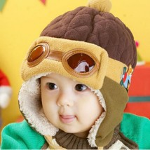 Baby Cap Hat Pilot Caps Hats Toddler Kids Infant Winter Autumn Ear Prote... - $9.52