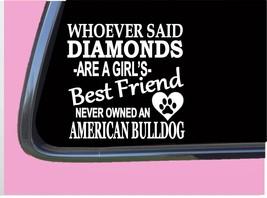 "American Bulldog Diamonds TP 458 Sticker 6"" Decal rescue dog kennel toys bully - $4.49"