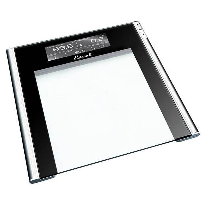 Escali Track & Target Bathroom Scale 440Lb / 200kg - Ultra Slim Design (¾ inch)
