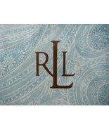 Ralph Lauren Veranda Paisley Aqua Tablecloth 60 x 120 Oblong - $51.00