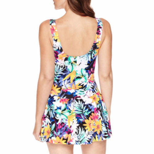 a337f28371e7f Le Cove Swimdress Size 18 Floral Blue White Yellow Green $96 New