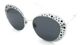 Giorgio Armani Sunglasses AR 6079 3015/87 52-20-140 Silver Rhinestones /... - $157.58