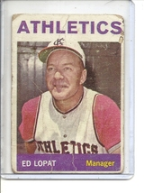 (B-2) 1964 Topps #348: Ed Lopat - Manager Athletics - rough cond. - $1.00