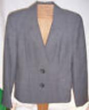 Linda Allard Ellen Tracy Gray Black Plaid Suit jacket Blazer Misses Size  4 - $19.79
