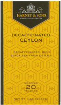 Harney and Sons Black Tea, Decaffeinated Ceylon, 20 Tea Bags, 1,42 oz/ 4... - $31.16