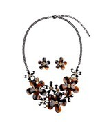 Hamer Charm Painting Choker Statement Necklace and Earrings Sets Pendant... - $883,23 MXN