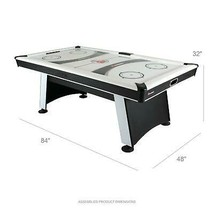 Air Hockey Table with Heavy-Duty Blower plus Electronic Scoring and Leg ... - $833.58