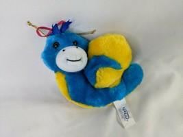 "Nanco Snail Plush 4"" Yellow Blue Hanging Carnival Style Stuffed Animal Toy - $12.95"