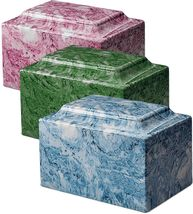 Classic Cultured Marble Gray 25 Cubic Inches Funeral Cremation Urn, TSA Approved image 8