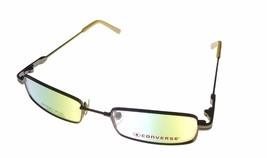 Converse Unisex Ophthalmic Eyeglass Soft Rectangle Metal Frame Dunk Brown - $35.99