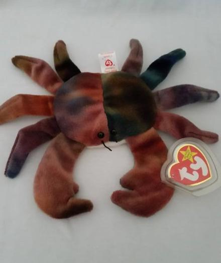 TY Beanie Babies Claude Crab Eye Sewn Wronge PVC PELLETS RARE ERRORS Retired