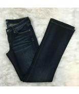 Lucky Brand by Gene Montesanto Women's Dark Wash Zoe Boot Inseam Jeans S... - $17.99