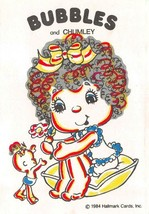 Hallmark   BUBBLES & CHUMLEY    1984 Child's Water Painting Postcard - $3.70