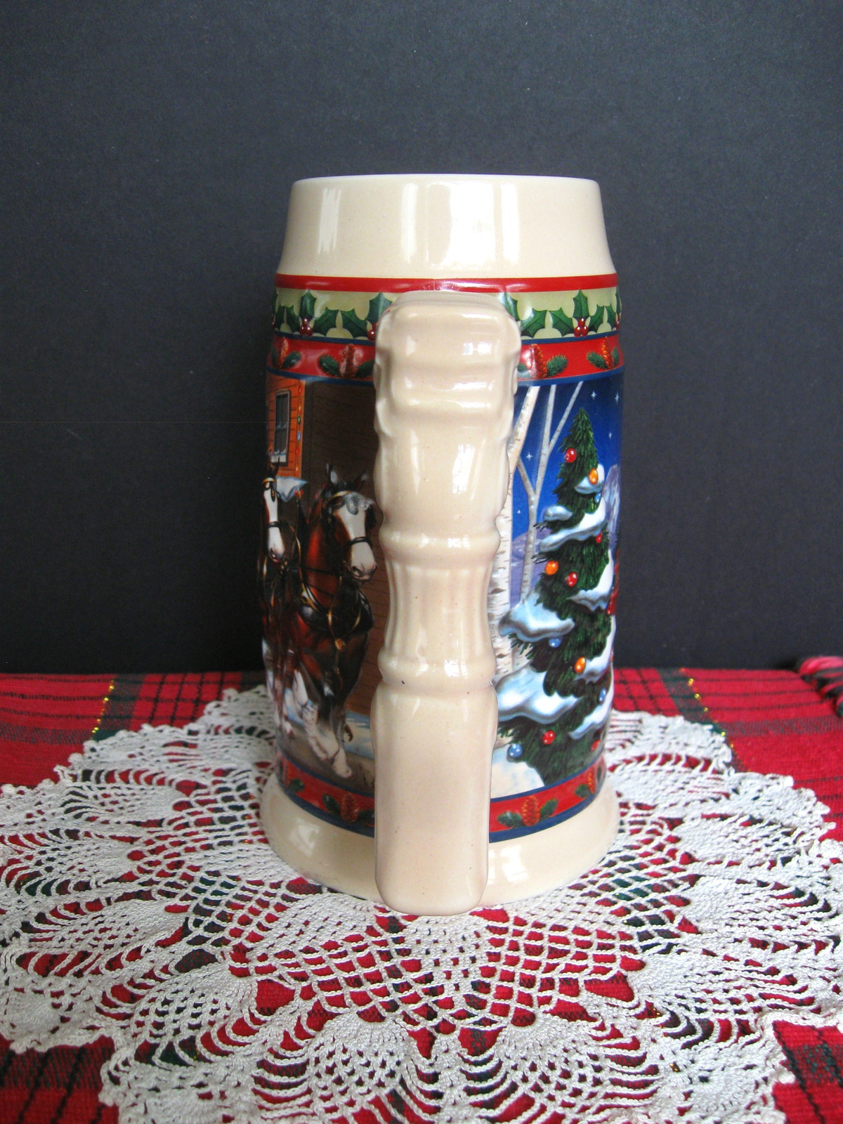 2003 Budweiser Holiday Stein - Old Towne Holiday - No. CS560 - No Box image 4
