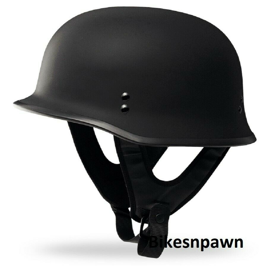New 5XL Flat Black Fly Racing DOT Approved German Beanie STyle Motorcycle Helmet