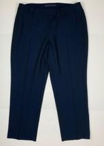Anne Klein Gathered High Rise Dress Pants Blue Women Sz 24 NEW NWT Plus ... - $53.99