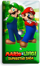 Super Mario Luigi Bros Video Cable Light Dimmer Wall Plate Cover Game Room Decor - $9.89